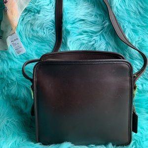 Vintage brown coach crossbody bag